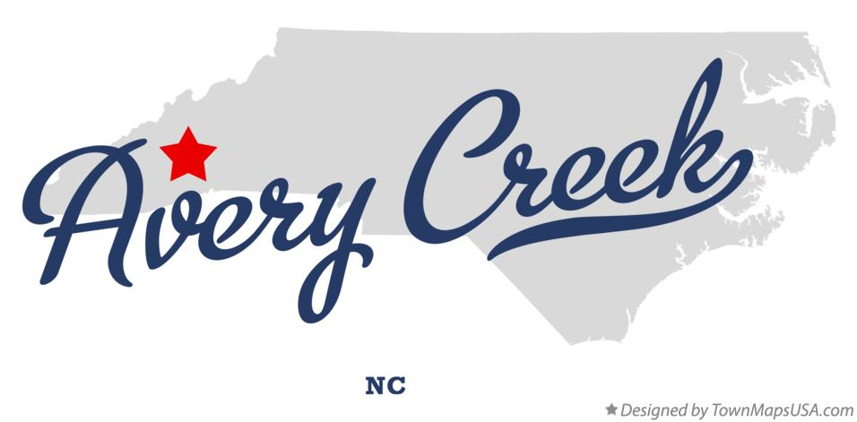 Map of Avery Creek North Carolina NC