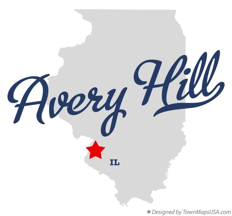 Map of Avery Hill Illinois IL