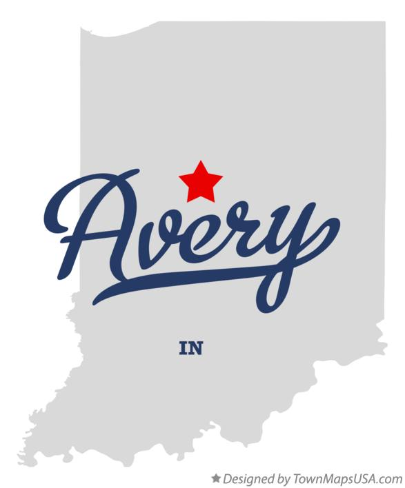 Map of Avery Indiana IN