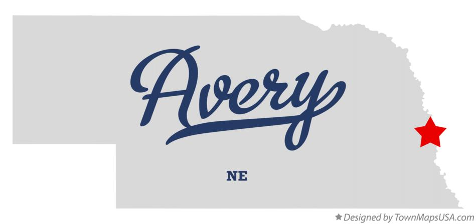 Map of Avery Nebraska NE