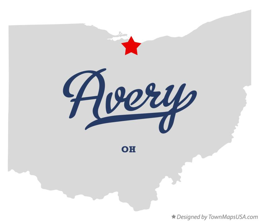 Map of Avery Ohio OH