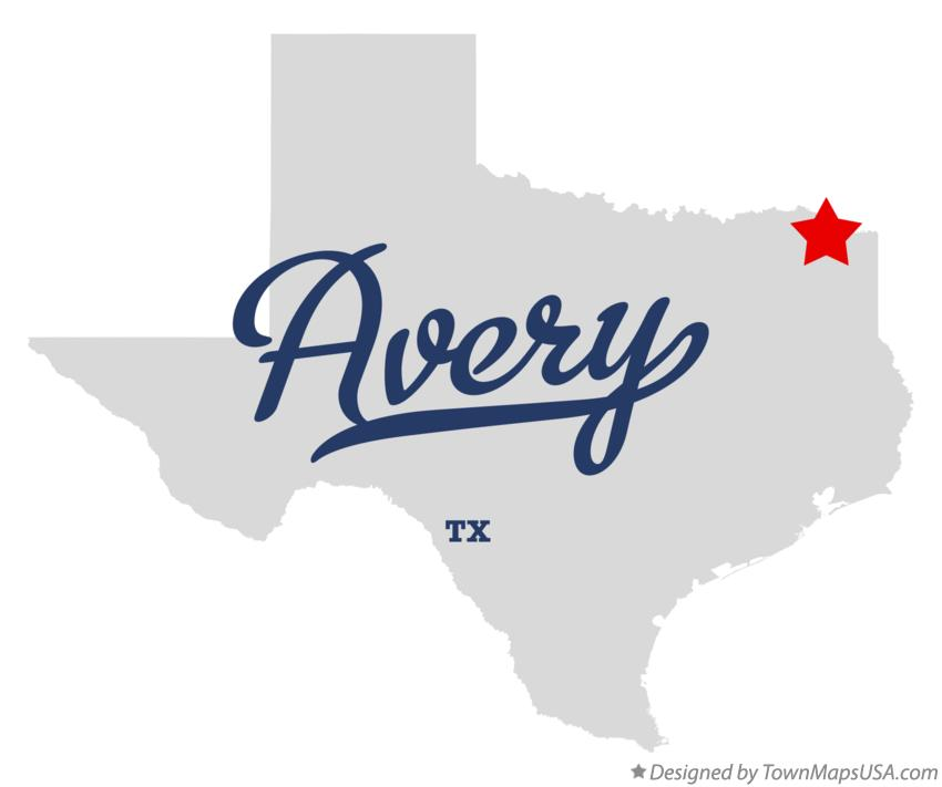 Map of Avery Texas TX