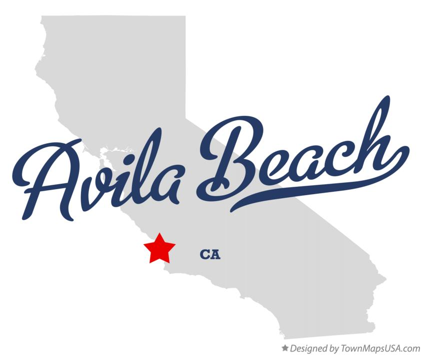 Map of Avila Beach California CA