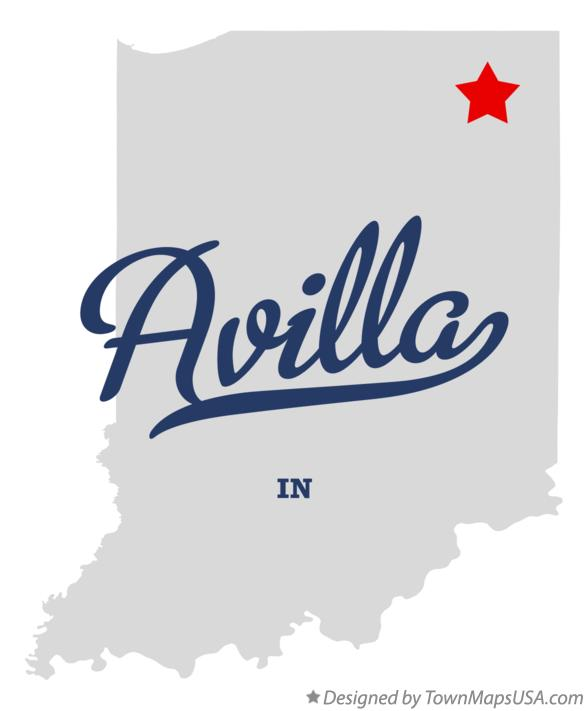 Map of Avilla Indiana IN