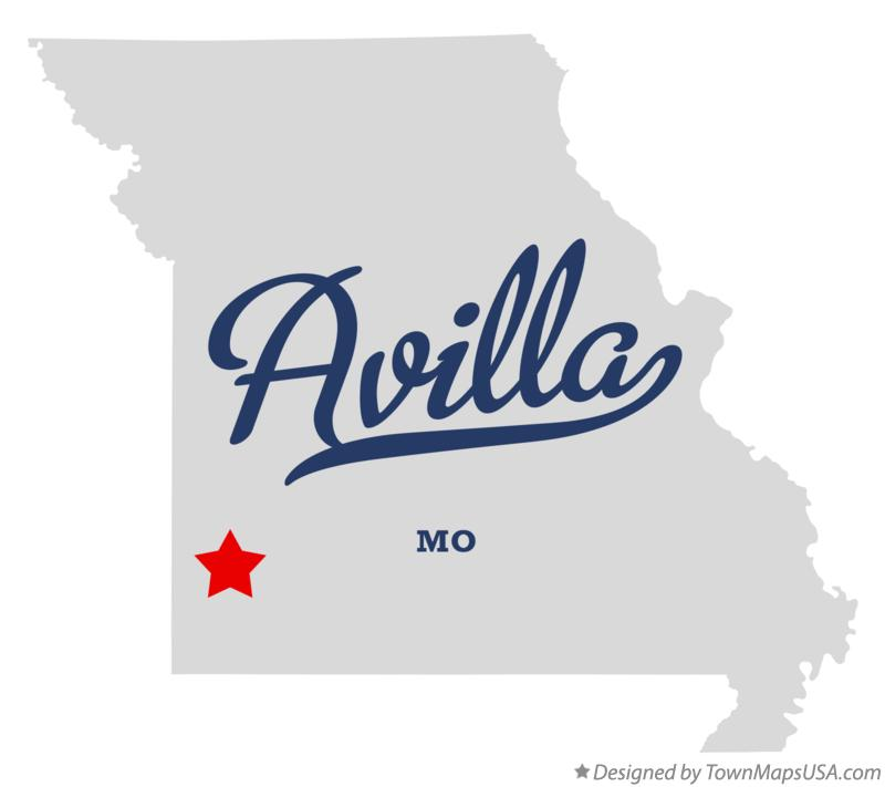 Map of Avilla Missouri MO