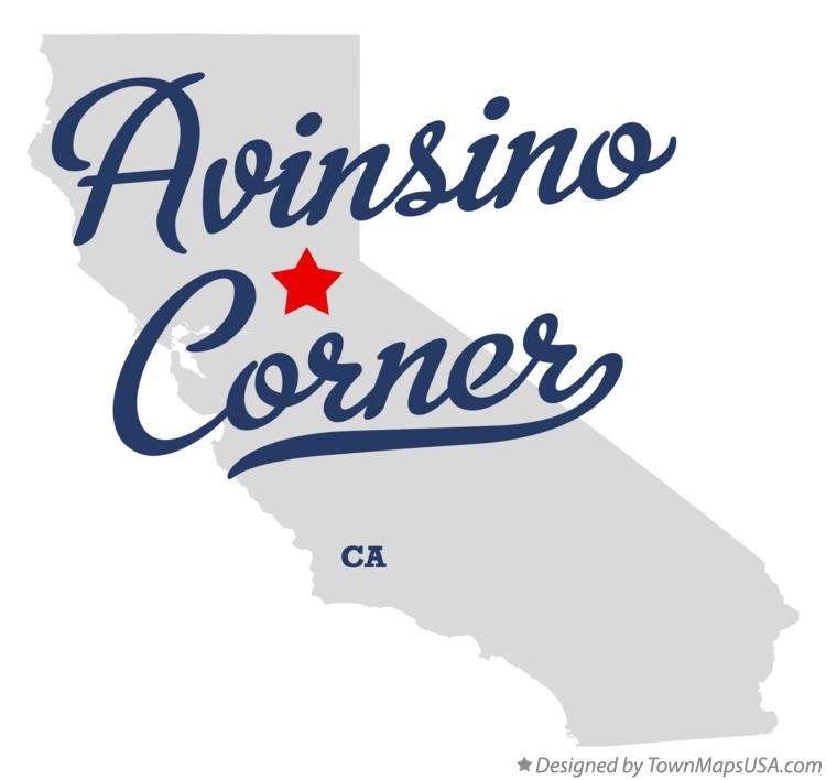 Map of Avinsino Corner California CA