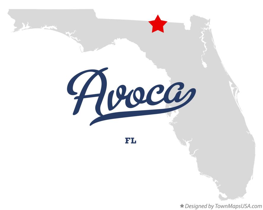 Map of Avoca Florida FL
