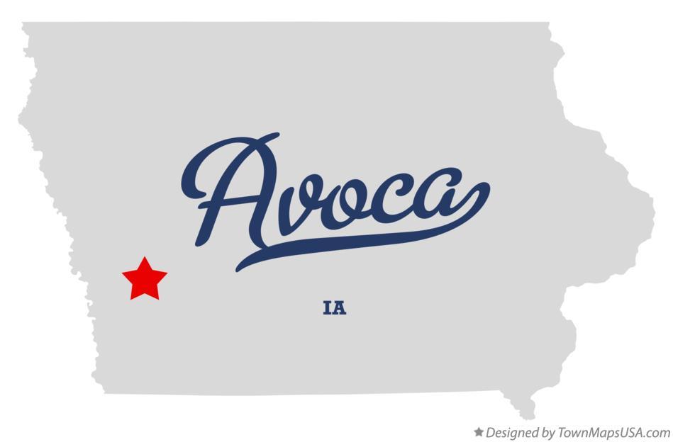 Avoca Iowa Map.Map Of Avoca Ia Iowa