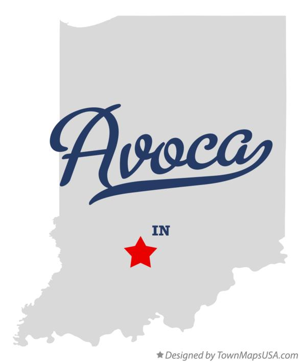 Map of Avoca Indiana IN