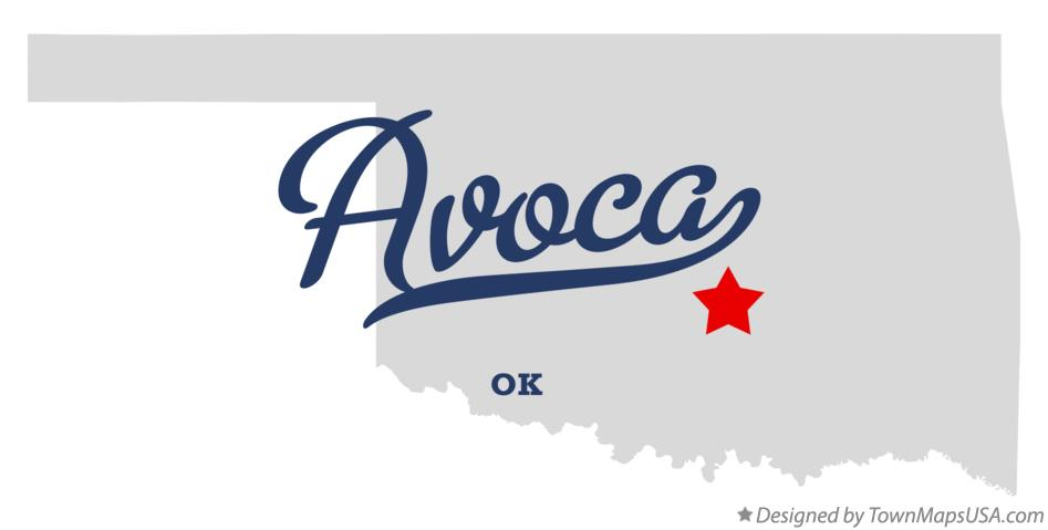 Map of Avoca Oklahoma OK