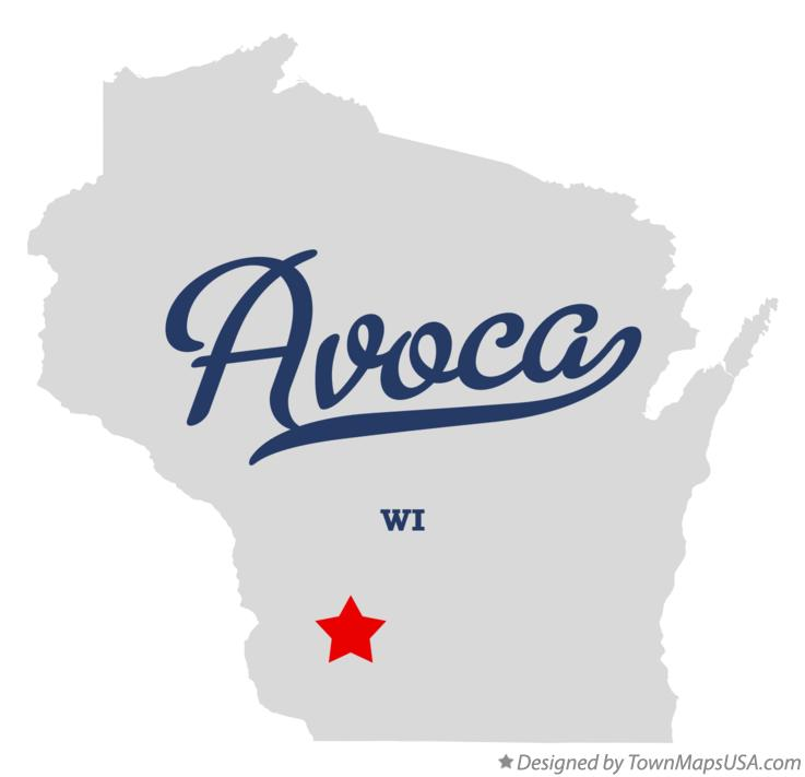 Map of Avoca Wisconsin WI
