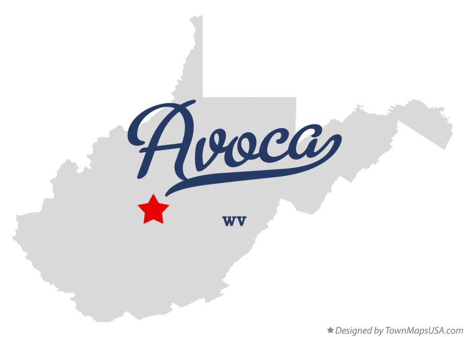 Map of Avoca West Virginia WV