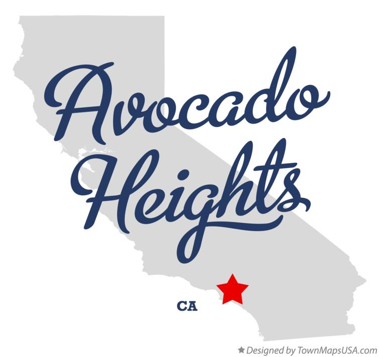 Map of Avocado Heights California CA