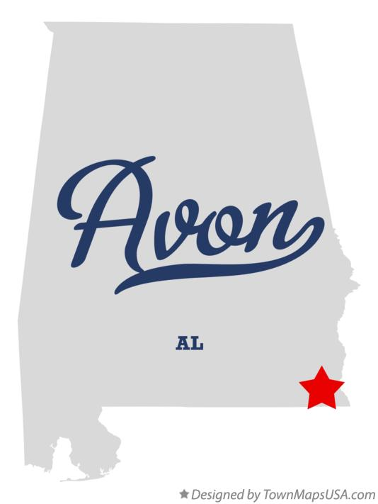 Map of Avon Alabama AL