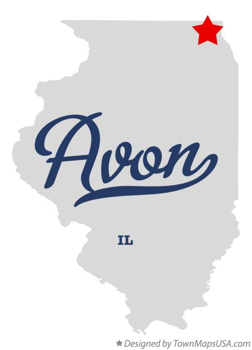 Map of Avon Illinois IL