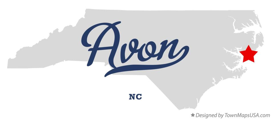 Map of Avon North Carolina NC