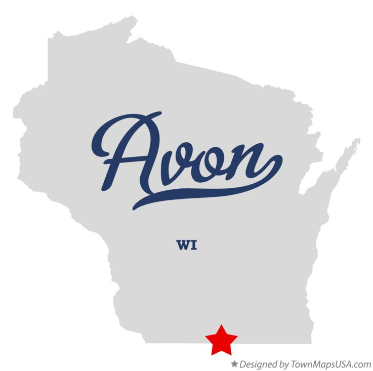 Map of Avon Wisconsin WI