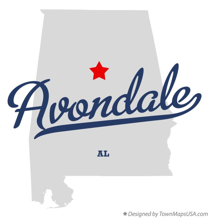 Map of Avondale Alabama AL