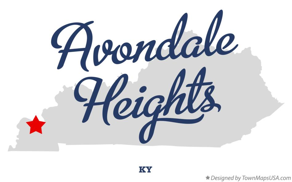 Map of Avondale Heights Kentucky KY