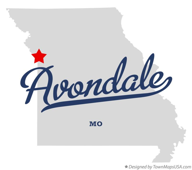 Map of Avondale Missouri MO