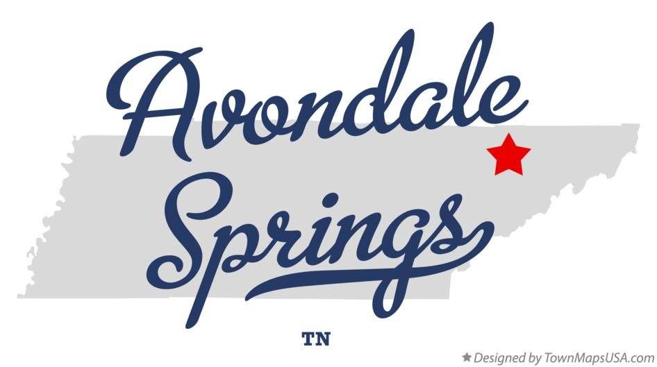Map of Avondale Springs Tennessee TN