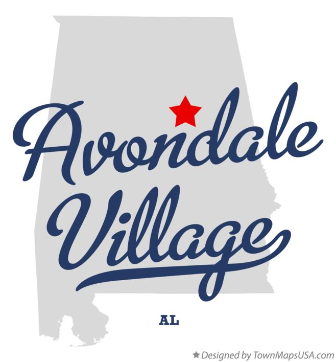 Map of Avondale Village Alabama AL