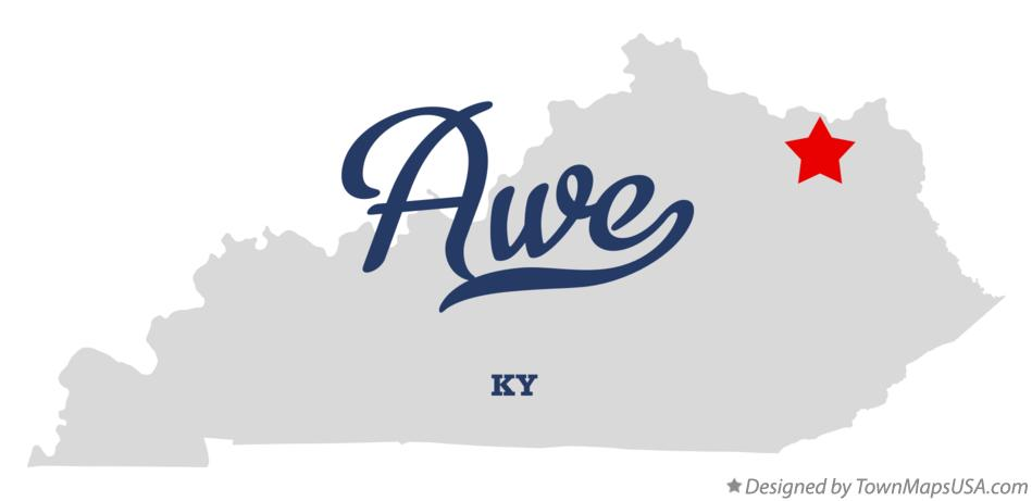 Map of Awe Kentucky KY