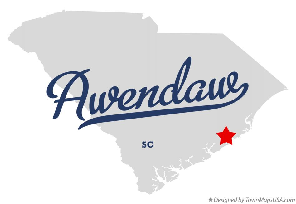 Map of Awendaw South Carolina SC