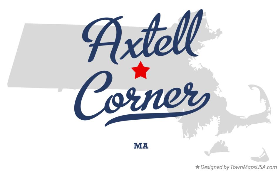 Map of Axtell Corner Massachusetts MA