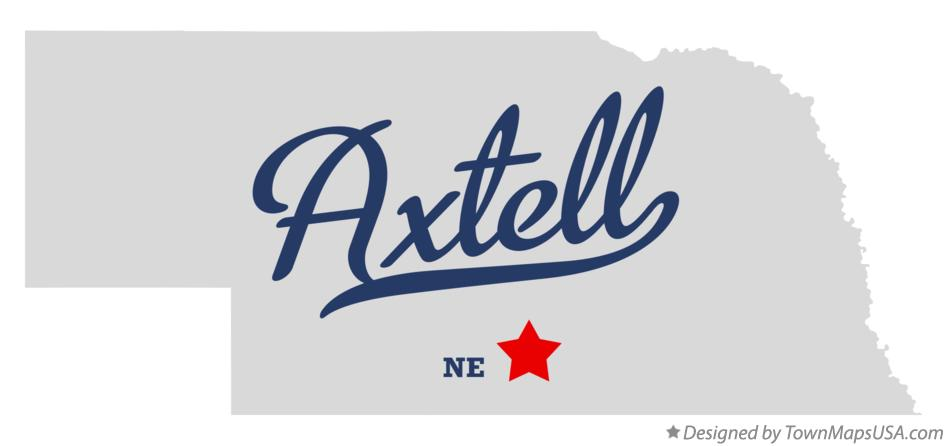 Map of Axtell Nebraska NE