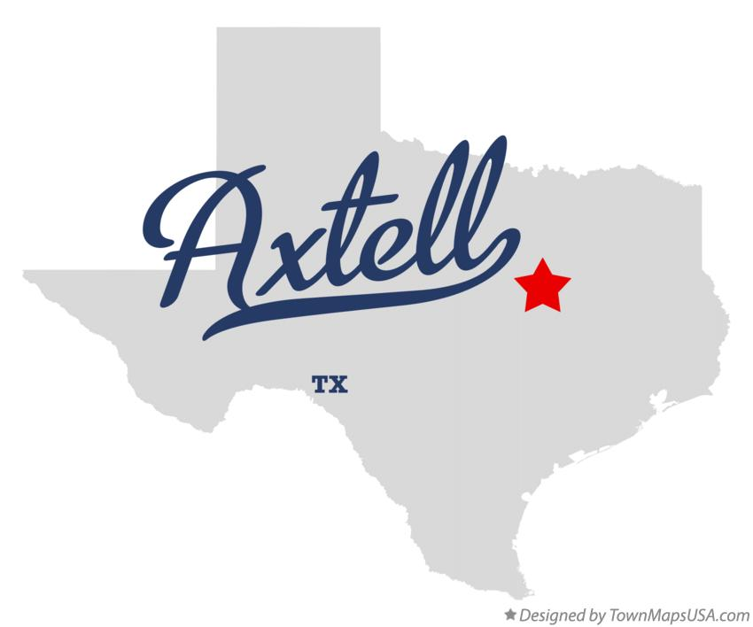 Map of Axtell Texas TX