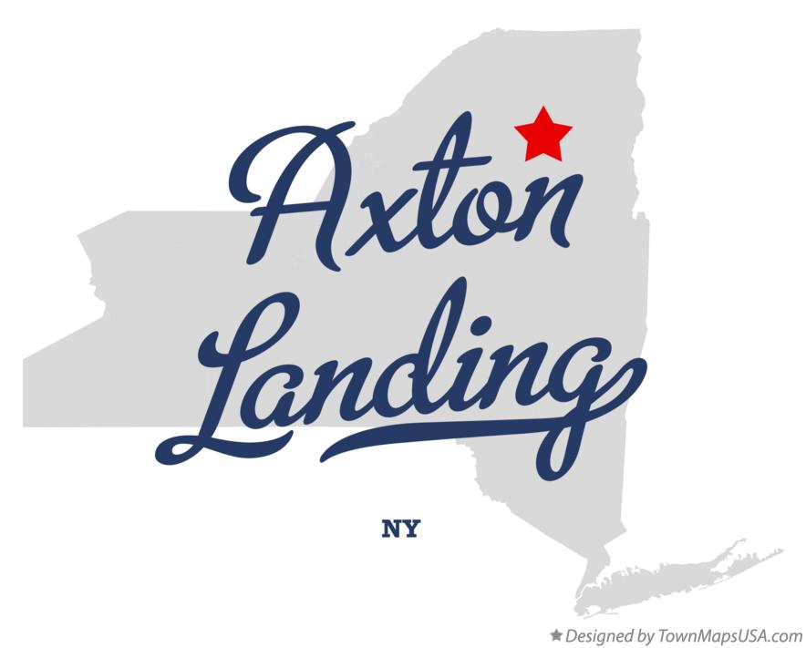 Map of Axton Landing New York NY