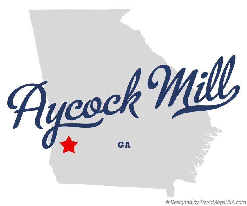 Map of Aycock Mill Georgia GA
