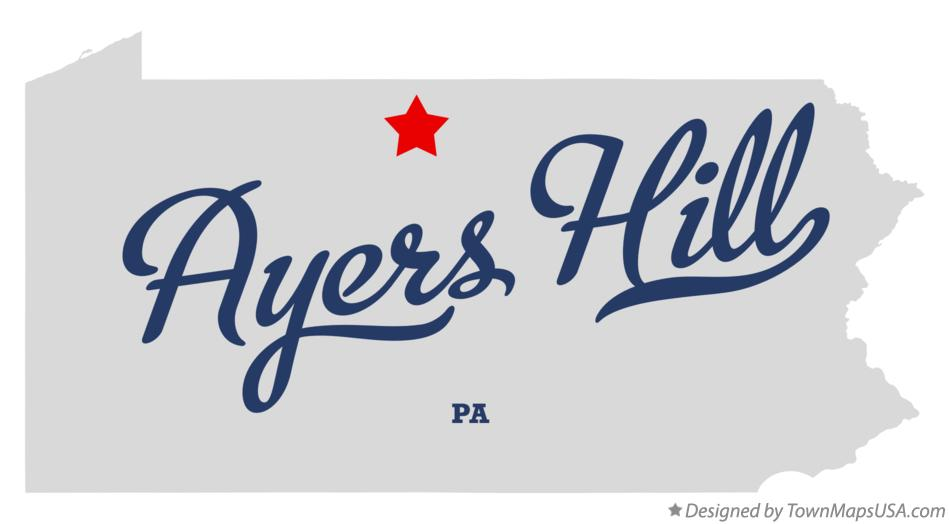 Map of Ayers Hill Pennsylvania PA