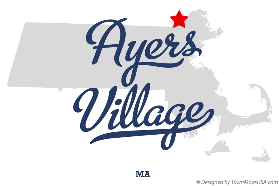 Map of Ayers Village Massachusetts MA
