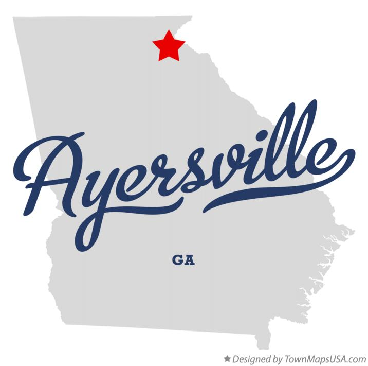 Map of Ayersville Georgia GA