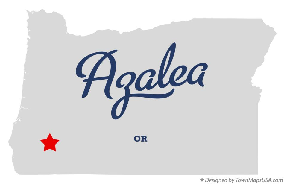 Map of Azalea Oregon OR