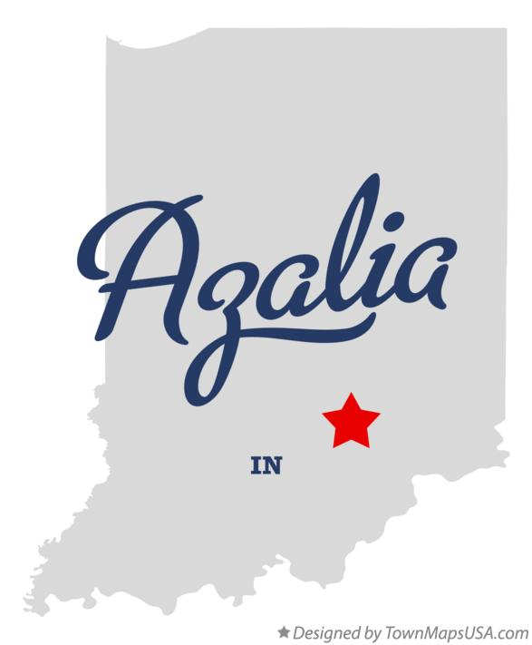 Map of Azalia Indiana IN