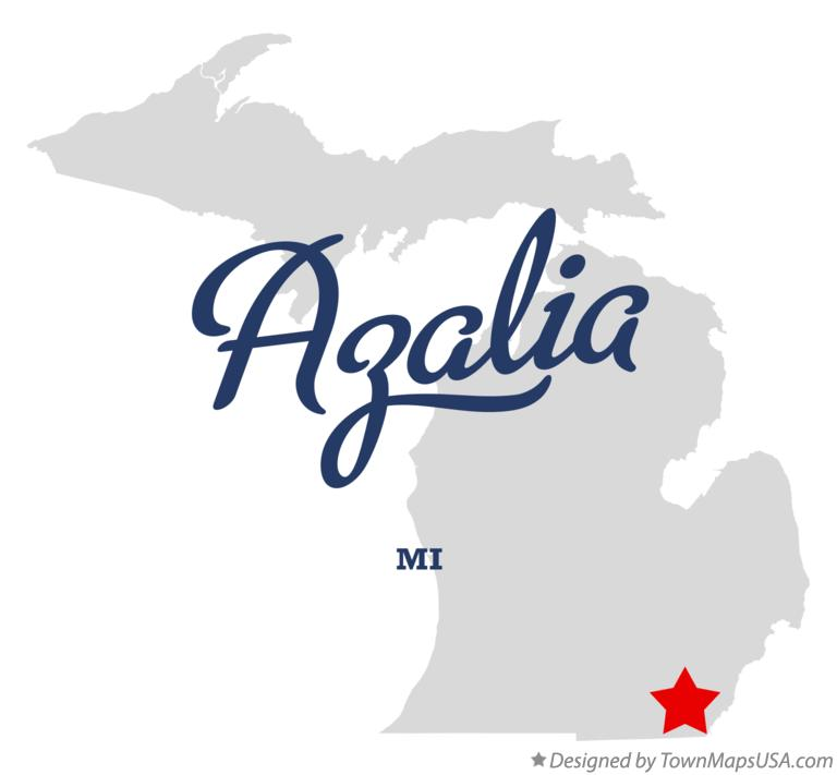 Map of Azalia Michigan MI