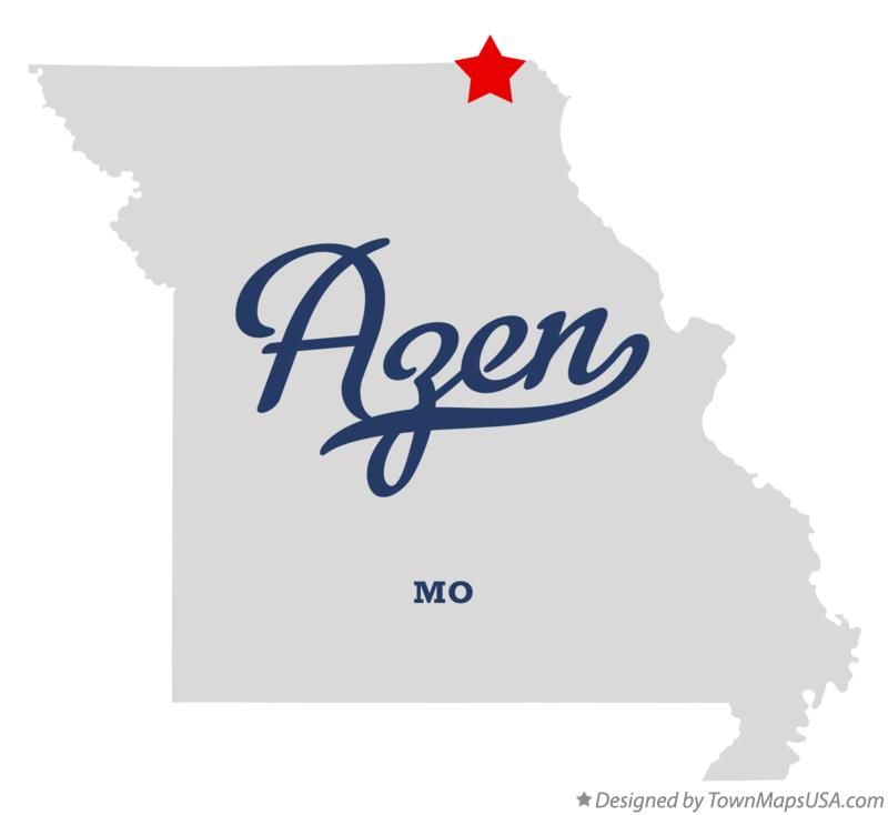 Map of Azen Missouri MO