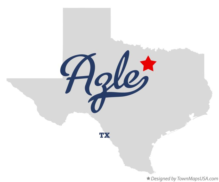 Map of Azle Texas TX