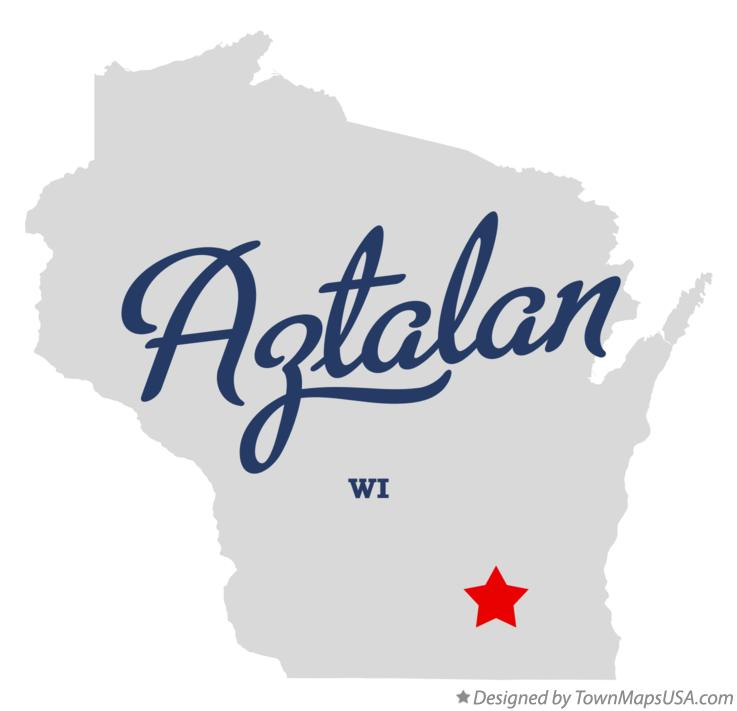 Map of Aztalan Wisconsin WI