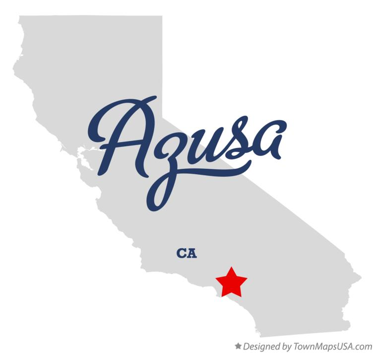 Map of Azusa California CA