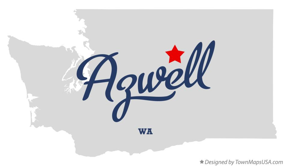 Map of Azwell Washington WA