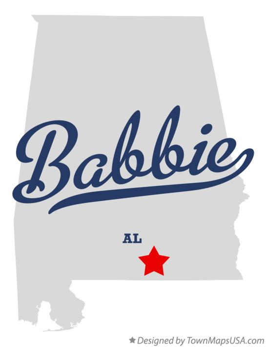 Map of Babbie Alabama AL