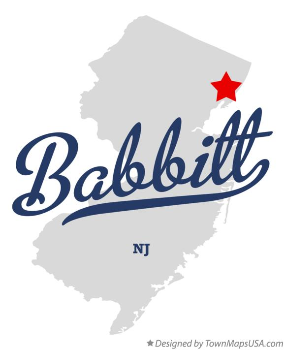 Map of Babbitt New Jersey NJ