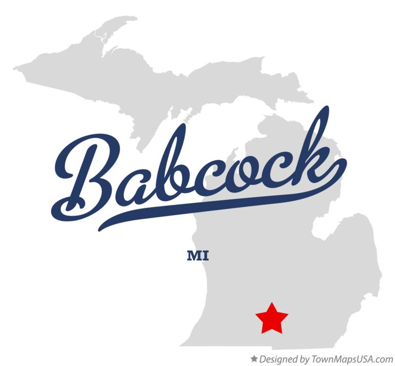 Map of Babcock Michigan MI