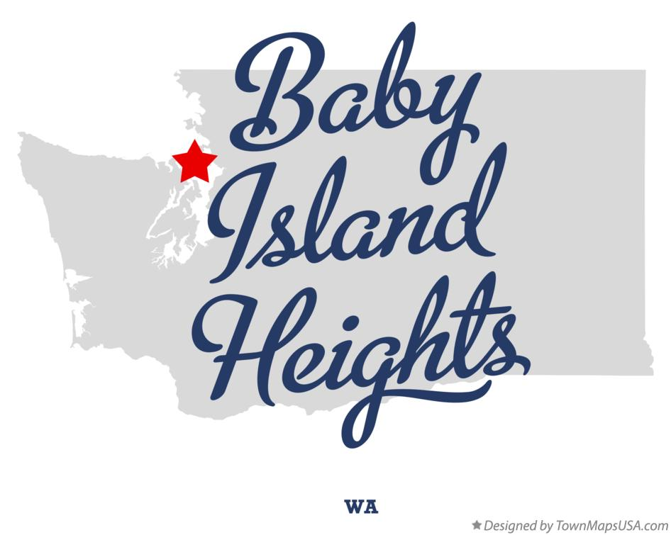 Map of Baby Island Heights Washington WA