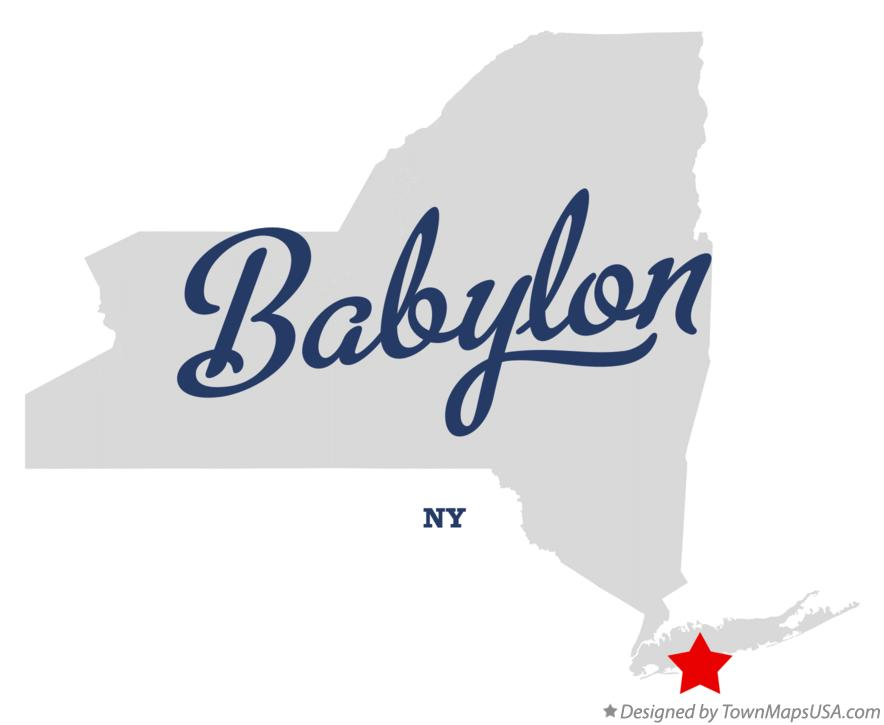 Map of Babylon, NY, New York
