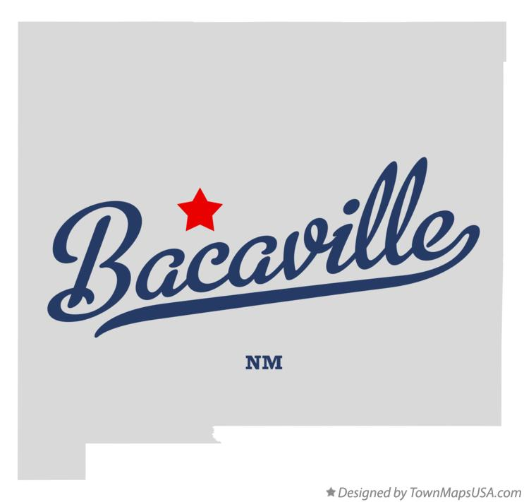 Map of Bacaville New Mexico NM